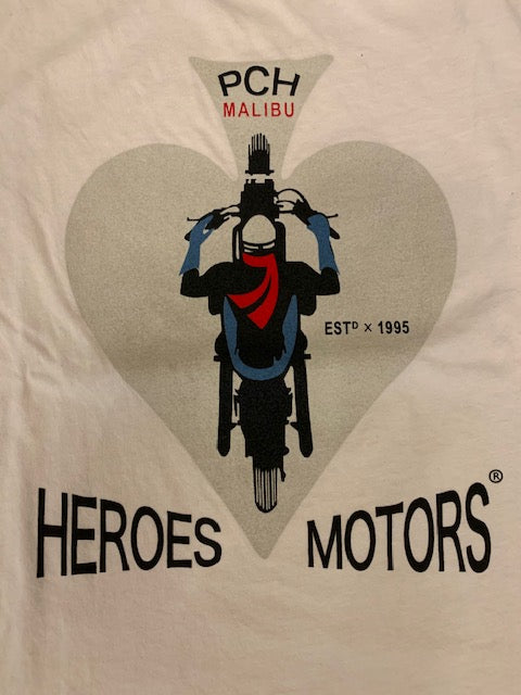 "Tee-Shirt Heroes Motors ""PCH"" White"