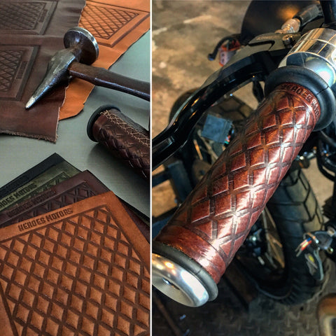 Heroes Motors Leather Grips