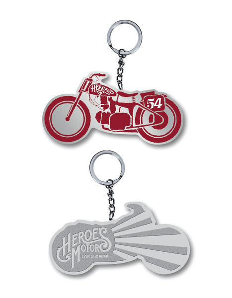 "Heroes Motors Key Chain ""54"" Red"