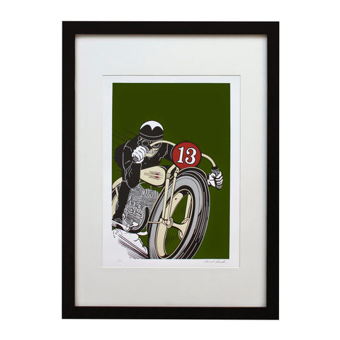 LUCKY 13 VERTE U.S.A. LIMITED EDITION PRINT