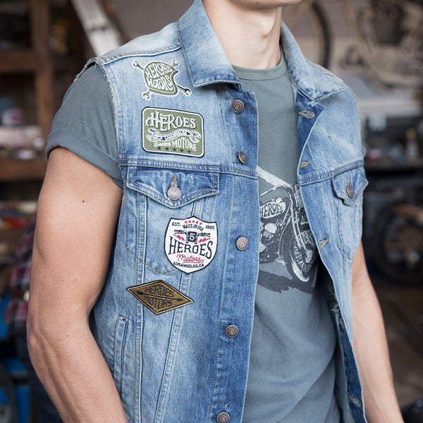 Denim Vest Patches - Heroes Motorcycles