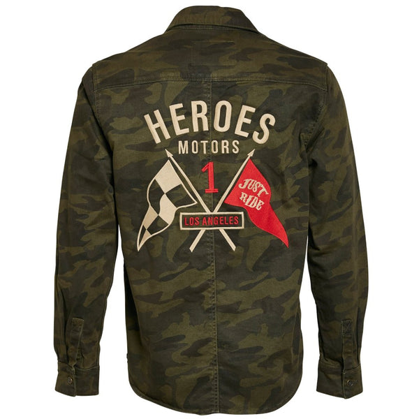Twill Cotton Camo Shirt - Heroes Motorcycles