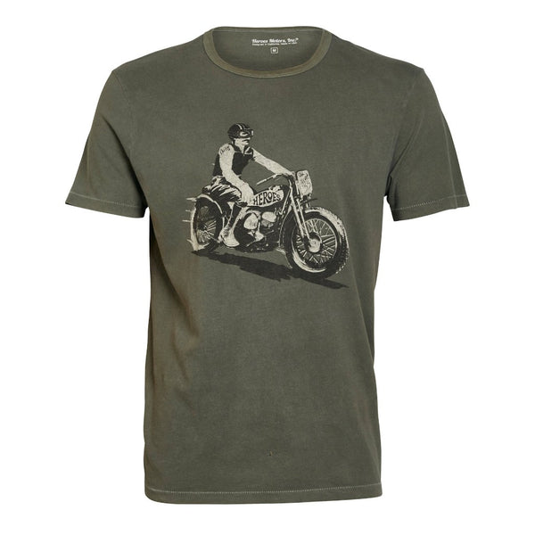 "Tee-shirt ""Whiskers"" - Heroes Motorcycles"