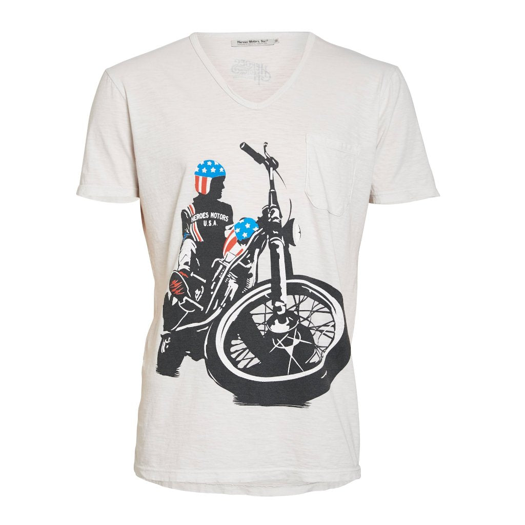 "Tee-Shirt ""Easy R"" Off-White - Heroes Motorcycles"