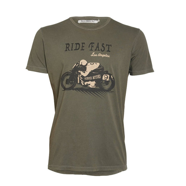 "Tee-Shirt ""Ride Fast"" - Heroes Motorcycles"