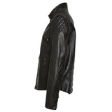 """Cafe Racer"" Men Leather Jacket - Heroes Motorcycles"