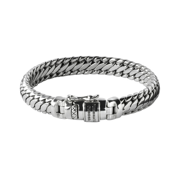Ben Medium Xl Chain .925 Sterling Silver Bracelet - Heroes Motorcycles