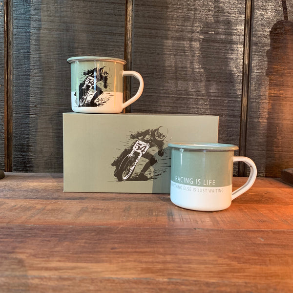 Two Mug Enamel - Heroes Motorcycles