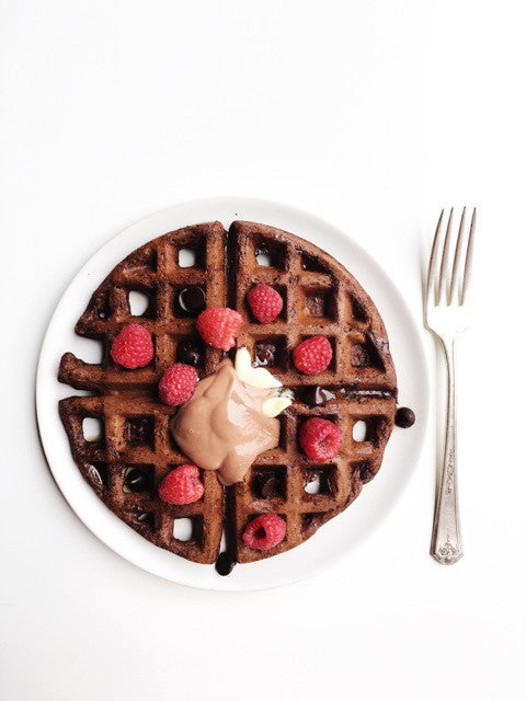 rabbit food: Double Chocolate Waffles + Nutella Cream