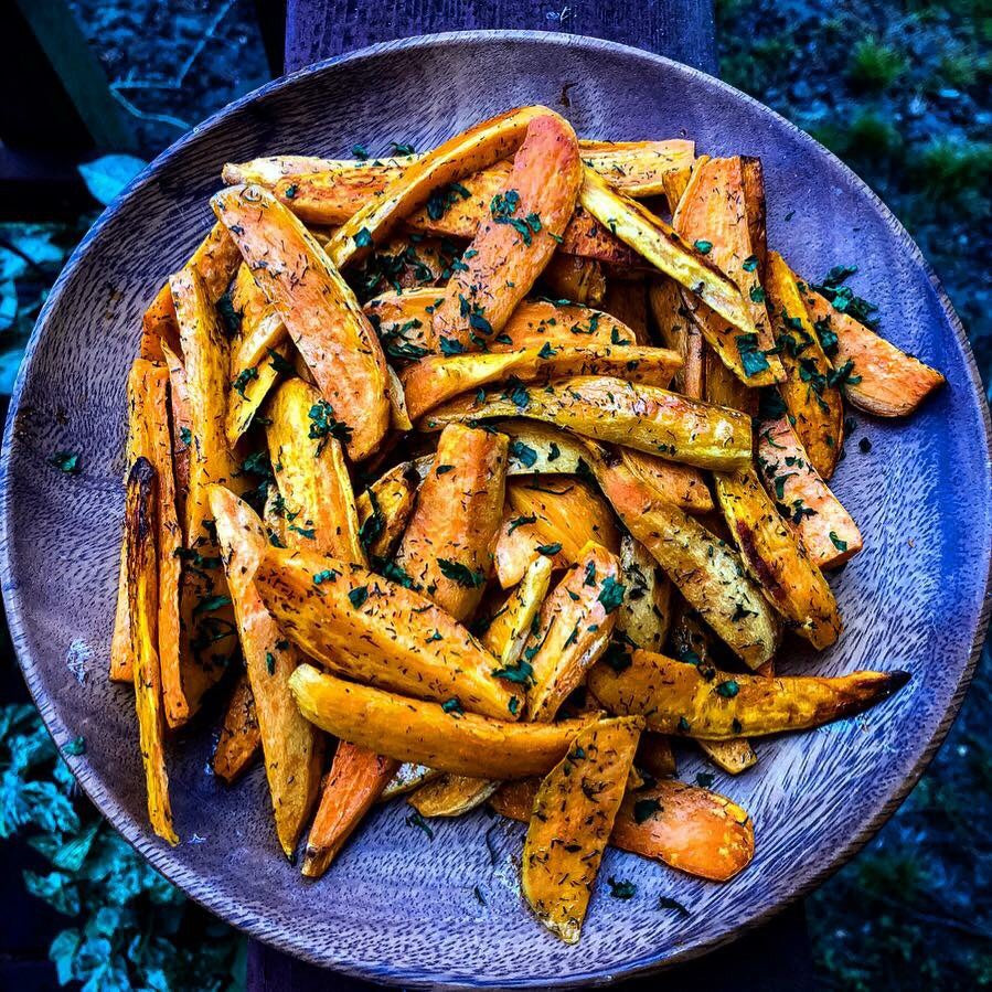 Fueled Friday: Parsley Sweet Potato Fries