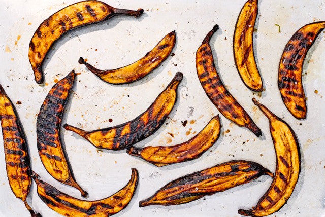 rabbit food: honey glazed grilled plantains
