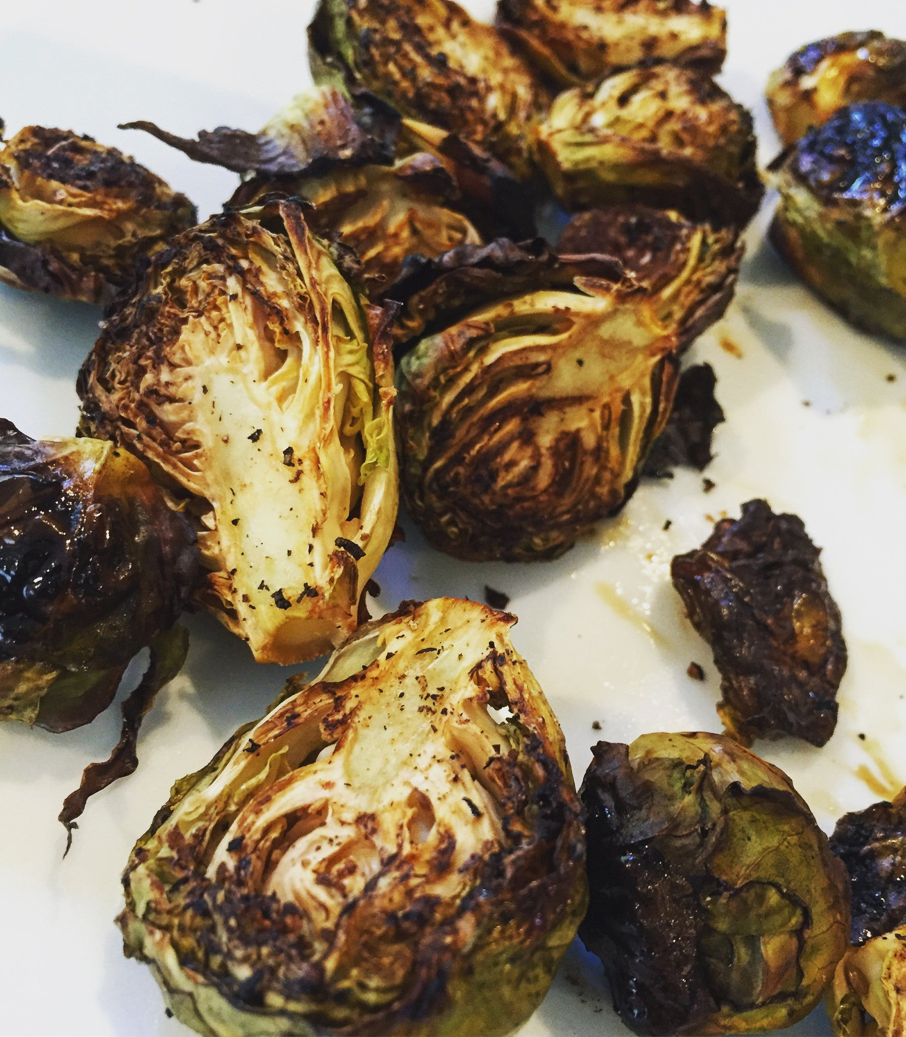 rabbit food: roasted Brussels sprouts