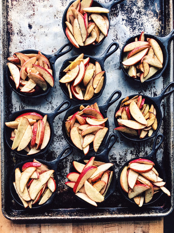 skillet apple crisps