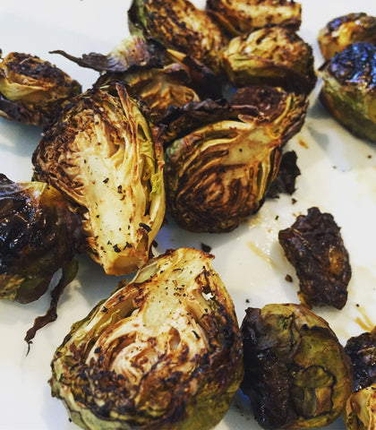 rabbit food: roasted brussel sprouts