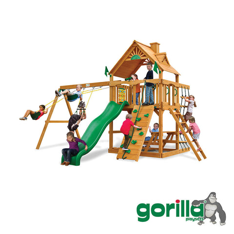 Gorilla Playsets Cedar Swing Set - Chateau II