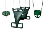 Gorilla Playsets Green Family Swing Bundle