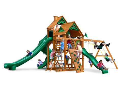 Gorilla Playsets Cedar Swing Set and Playground - Great Skye II