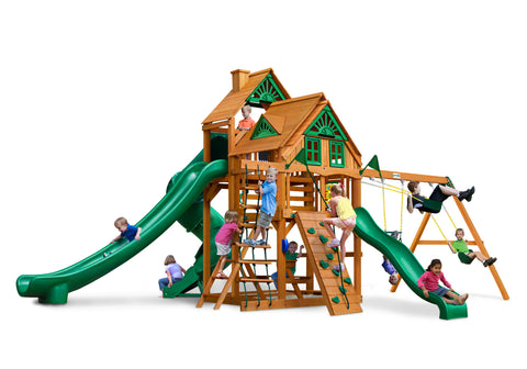 Gorilla Playsets Cedar Swing and Treehouse - Great Skye II Treehouse