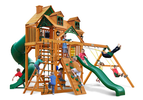 Gorilla Playsets Cedar Swing Set and Playhouse- Malibu Deluxe I