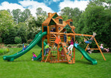 Gorilla Playsets Cedar Swing Set and Playground - Malibu Deluxe II