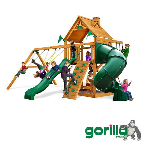 Gorilla Playsets Cedar Swing Set - Mountaineer