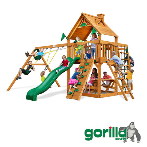 Gorilla Playsets Cedar Swing Set and Playground - Navigator