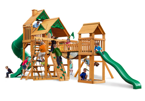 Gorilla Playsets Cedar Swing Set and Playground - Treasure Trove I