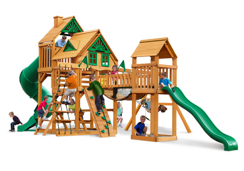 Gorilla Playsets Cedar Swing Set and Playground - Treasure Trove I Treehouse
