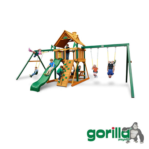 Gorilla	 Playsets Double Swing Set - Chateau Duo