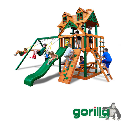 Gorilla Playset Cedar Swing Set and Playset - Malibu