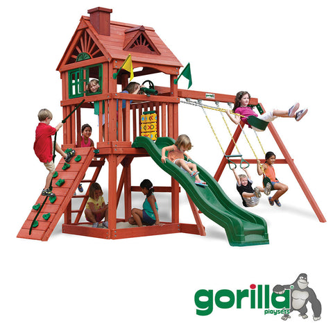 Gorilla 	Playsets Cedar Swing Set - Nantucket