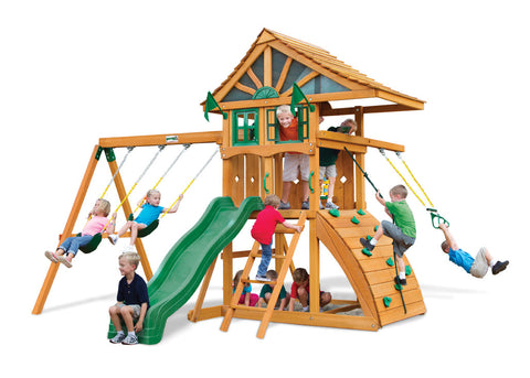 Gorilla 	Playsets Cedar Swing Set and Playhouse - Ovation