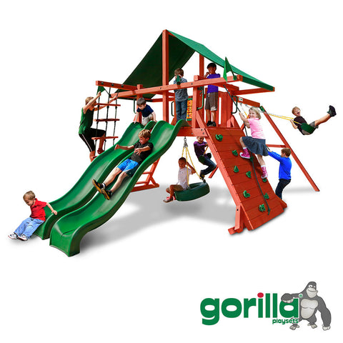 Gorilla Playsets Cedar Swing Set - Sun Valley Extreme