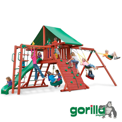 Gorilla Playsets Cedar Swing Set - Sun Valley II