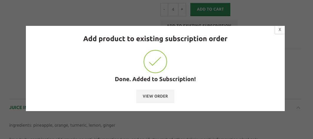 how to add new juice your subscription