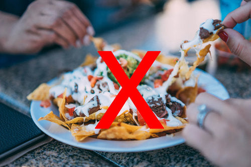 Nachos are not part of healthy diet juices