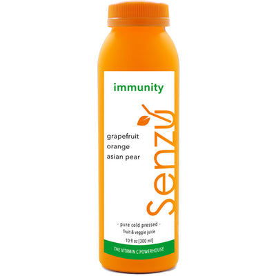 immunity cold pressed juice: grapefruit, orange, asian pear