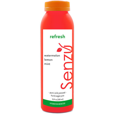 refresh cold pressed juice: watermelon, lemon, mint