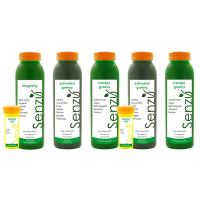low sugar green cold pressed juice cleanse