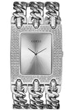 Triple Chain Silver Crystals Watch