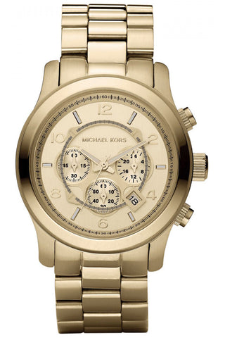 Runway Oversized Gold-Tone Watch MK8077