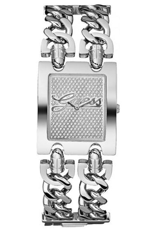 Heavymetal Double Chain Silver Watch