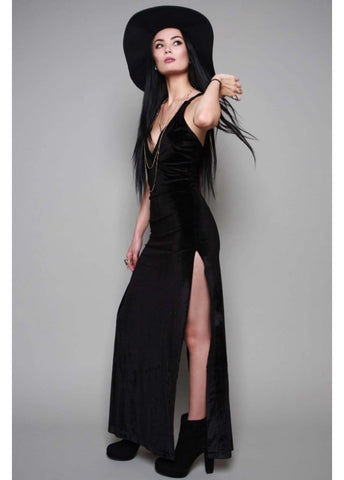 Eternal Black Velvet Maxi