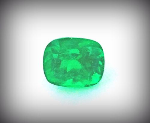 4.57ct Cushion Cut Natural Columbian Emerald