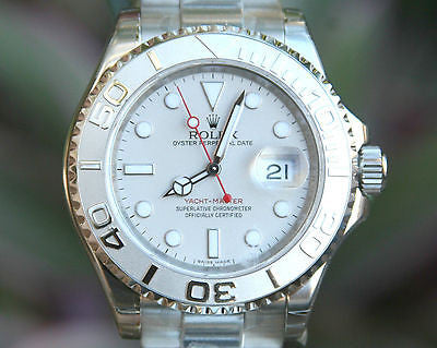 ROLEX NEW YACHTMASTER MENS FULL SIZE 40mm 16622 STEEL PLATINUM UNWORN