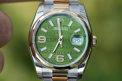 ROLEX 116233 DATEJST 116203 FACTORY GREEN DIAMOND DIAL STEEL 18K