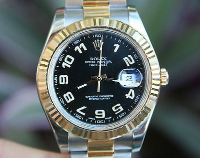 ROLEX MENS DATEJUST II NEW MODEL 116333 2 TONE STAINLESS 18K GOLD BOX & WARRANTY