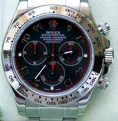 ROLEX DAYTONA 116509 18K WHITE GOLD CHRONOMETER NEW  WITH TAGS RACING WATCH