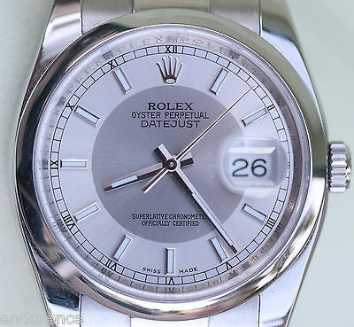 ROLEX DATEJUST MENS STEEL WATCH PERFECT COMPLETE BOX BOOKLETS TAGS WARRANTY CARD