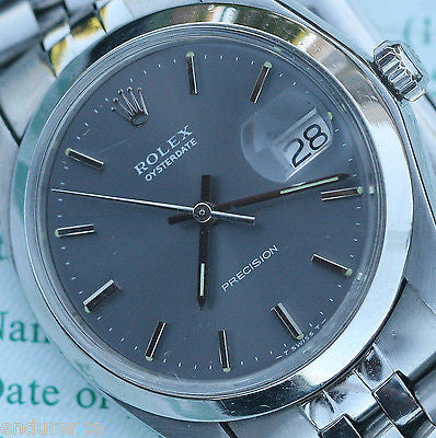 ROLEX OYSTER DATE PRECISION STAINLESS STEEL MODEL 6694